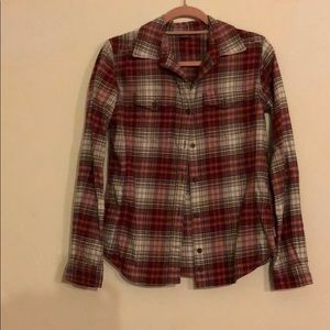 Red and white flannel by Carhartt